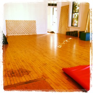 my classroom for stage combat this spring; not your typical, but definitely my style