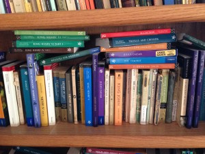 A gratuitous shot of one of my bookshelves (Shakespeare... obviously) just 'cause