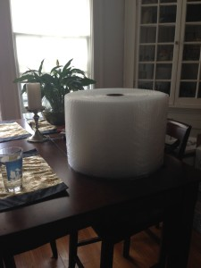 This is the world's BIGGEST ROLL OF BUBBLE PAPER and it's MINE MINE! MWAHAHA!
