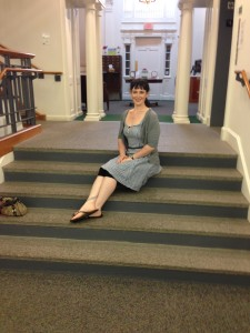 Sitting in a very pretty library we found the other week (Topsfield Public, for those who care)