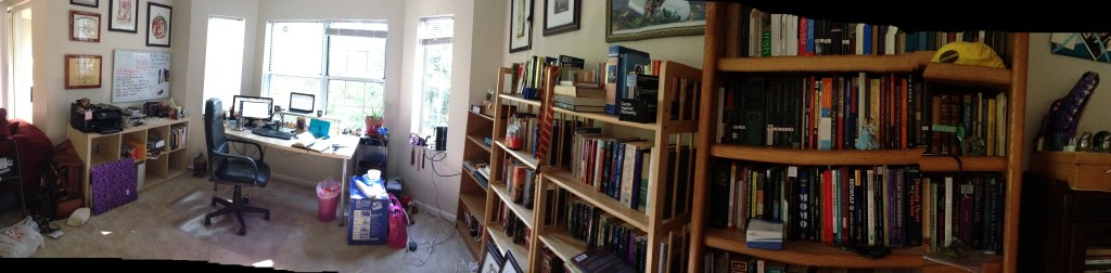 Pano of the new office space.  Isn't it lovely?