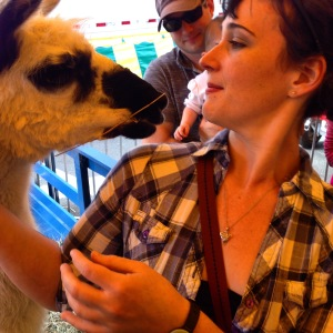 Or find a llama to kiss like I did this weekend.  Kissing llamas will at least make you smile.