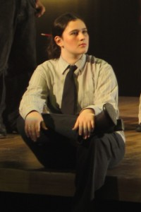 "High school me performing in ""The Laramie Project"""