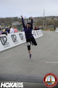 Finishing my first half; This is a great picture that captures how awesome that felt!