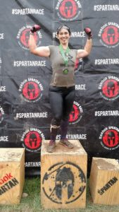Podium Finishing pose from my Beast