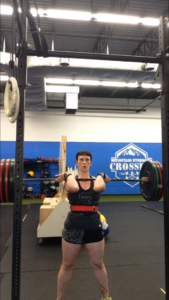 My coach definitely had things to say about my elbows in this front squat